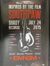 Eminem Shady Signed Auto Autograph 24x36 Southpaw Poster JSA Y93557