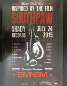 Eminem Shady Signed Auto Autograph 24x36 Southpaw Poster JSA Y93561