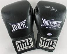"Eminem ""Shady"" Signed Black Title Southpaw Boxing Glove PSA/DNA #Y06823"