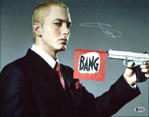Eminem Signed 11x14 Photo Autographed BAS #A84989