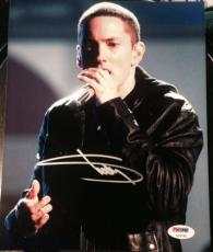 Eminem Signed Autograph Very Rare Classic Rap Legend On Stage Psa/dna Loa Z03745