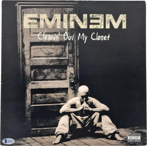 Eminem Signed Autographed Album Slim Shady Cleaning Out My Closet Beckett BAS