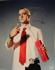 """EMINEM Signed Autographed """"Slim Shady"""" 16x20 Photo PSA/DNA #U03786"""
