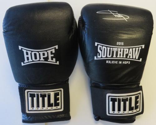 Eminem Signed Signed Black Title Southpaw Boxing Glove PSA/DNA #AB02650
