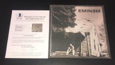 Eminem Slim Shady The Marshall Mathers Lp Signed Vinyl Album Authentic Auto Bas