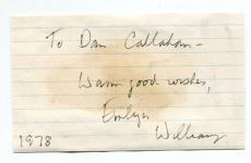 Emlyn Williams Autographed Cut (JSA)
