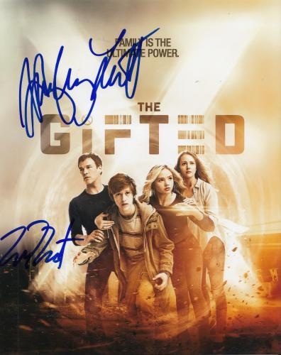"EMMA DUMONT & HAYLEY LOVITT signed (THE GIFTED) 8X10 photo W/COA ""PROOF"