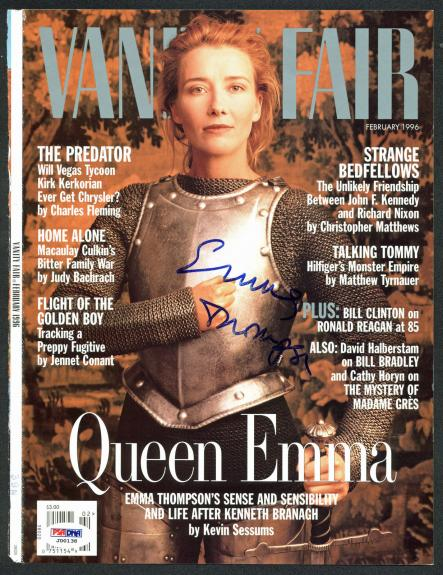 Emma Thompson Signed 1996 Vanity Fair Magazine Cover PSA/DNA #J00138