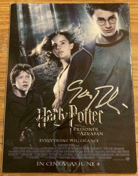 "Emma Watson & Gary Oldman ""harry Potter"" Signed Autograph Original Mini Poster"