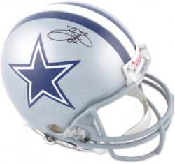 Emmitt Smith Signed Helmet - Pro Line Riddell Authentic Mounted Memories
