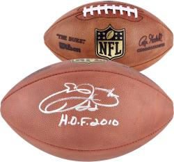 Emmitt Smith Autographed Football with H.O.F 2010 Inscription