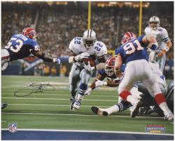 Emmitt Smith Dallas Cowboys Super Bowl XXVII Autographed 16'' x 20'' Photograph - Mounted Memories