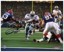 Emmitt Smith Dallas Cowboys SB XXVII TD Autographed 8'' x 10'' Photograph - Mounted Memories
