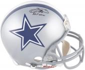 Emmitt Smith Dallas Cowboys Autographed Riddell Pro-Line Authentic Helmet with HOF 10 Inscription