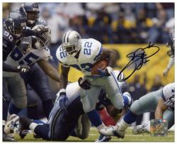 Emmitt Smith Dallas Cowboys Record Breaker Run Autographed 8'' x 10'' Photograph - Mounted Memories