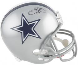Dallas Cowboys Emmitt Smith Autographed Replica Helmet - Mounted Memories