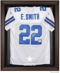 Emmitt Smith Dallas Cowboys 2010 Hall of Fame Brown Framed Jersey Case - Mounted Memories