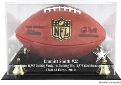 Dallas Cowboys Emmit Smith Hall of Fame Football Case - Mounted Memories