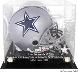 Dallas Cowboys Emmitt Smith Hall of Fame Helmet Case - Mounted Memories