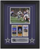 "Dallas Cowboys Emmitt Smith Autographed 8"" x 10"" Photo with Super Bowl Ticket"