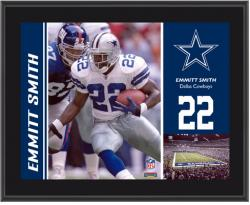 Dallas Cowboys Emmitt Smith 10.5'' x 13'' Sublimated Plaque - - Mounted Memories