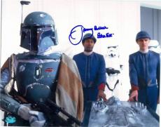 Empire Strikes Back autographed 8x10 photo by Jeremy Bulloch Boba Fett SC#1 has damage as is