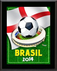 "England 2014 Brazil Sublimated 10.5"" x 13"" Plaque"