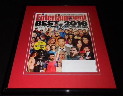 Entertainment Weekly Best of 2016 Framed ORIGINAL Cover Margot Robbie Drake