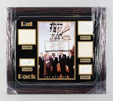 Entire Rat Pack Signed Cuts 25×29 Photo Display w/ Sinatra, Bishop, Lawford, Davis- COA JSA