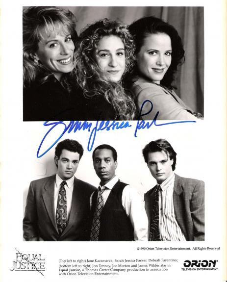 "EQUAL JUSTICE"" Signed by SARAH JESSICA PARKER as JO ANN HARRIS Signed 8x10 B/W Photo"