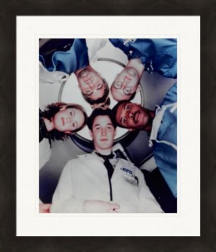 ER Television Cast 8x10 photo (Anthony Edwards, George Clooney, Julianna Margulies) Matted & Framed