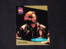 Eric Clapton 1991 Pro Set Musicards Signed Autographed Card #2 Rock Legend