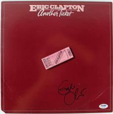 Eric Clapton Another Ticket Signed Album Cover PSA/DNA #U03968