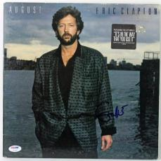 Eric Clapton August Signed Album Cover PSA/DNA #V10651