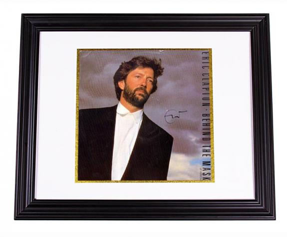Eric Clapton Autographed Behind The Mask Signed LP Album AFTAL