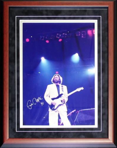 Eric Clapton Autographed Framed 12x18 Photo (JSA)