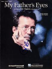 Eric Clapton Autographed My Father's Eyes Sheet Music Magazine - PSA/DNA LOA