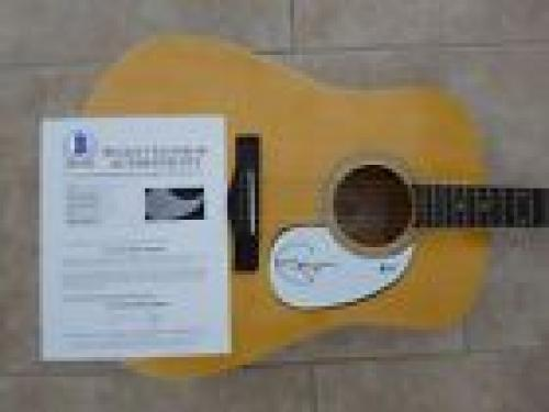 Eric Clapton Autographed Signed Autographed Acoustic Guitar Beckett Certified