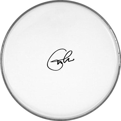 Eric Clapton Autographed Facsimile Signed Clear Drumhead