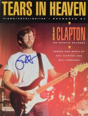 Eric Clapton Autographed Tears In Heaven Sheet Music Magazine - PSA/DNA LOA