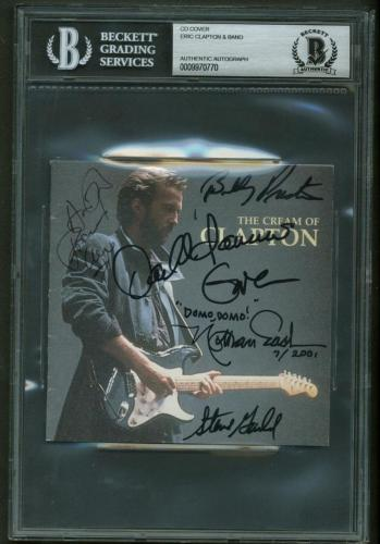Eric Clapton Band Signed Autographed The Cream of Clapton CD Booklet Beckett BAS
