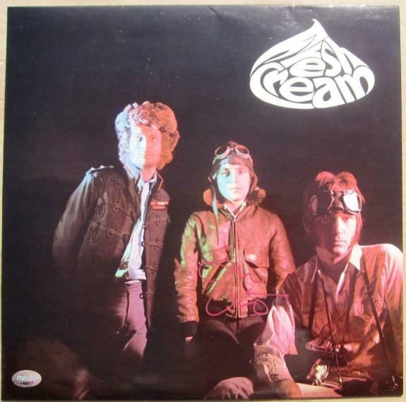 Eric Clapton Cream signed Fresh Cream LP Album Cover PSA/DNA auto