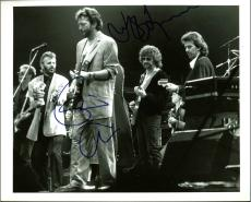 Eric Clapton, Jeff Lynne Signed 8X10 Original B&W Publicity Photo PSA #AB10005
