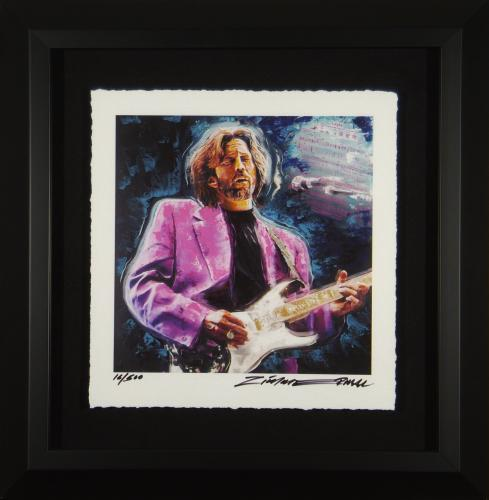 Eric Clapton limited edition Dick Zimmerman 16 of 500 Framed 23×23