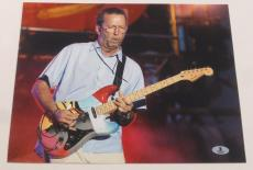 Eric Clapton Signed 11x14 Photo Authentic Autograph Cream Beckett Loa B