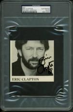 Eric Clapton Signed 3.75X4 Cut Autographed PSA/DNA Slabbed