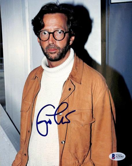 Eric Clapton Signed 8x10 Photo Auto Graded Gem Mint 10! BAS #A79361