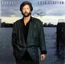 Eric Clapton Signed August Album Cover W/ Vinyl Autographed BAS #A80437
