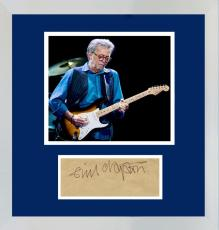 Eric Clapton Signed Autograph Display. JSA