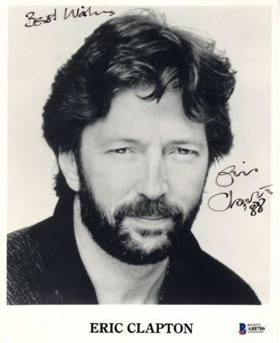 Eric Clapton Signed Autographed 8x10 Photo Best Wishes Beckett BAS